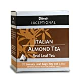 Dilmah Exceptional Leaf Tbag Italian Almond, 1.41-Ounce Boxes (Pack of 6)