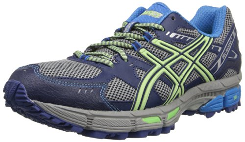 ASICS Women's GEL-Kahana 7 Running Shoe,Gray/Mint Green/Blue,11.5 M US