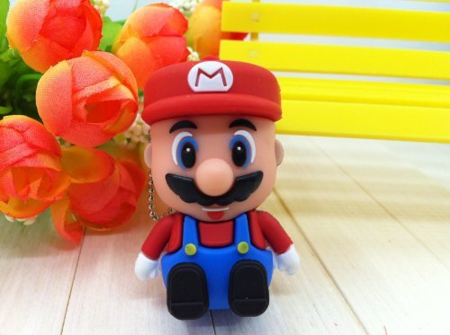 Newdigi High Quality 16GB Cartoon Mario USB Memory Stick USB flash drive+gift box