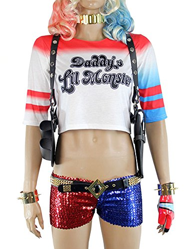 Harley Quinn Shoulder GUN Holster Costume Accessories