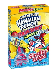 Hawaiian Punch Singles To Go Drink Mix Lemon Berry 8 Count Pack Of 12
