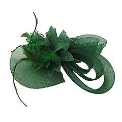 HSRT Women Brides Wedding Party Gauze Green Headwear Headband