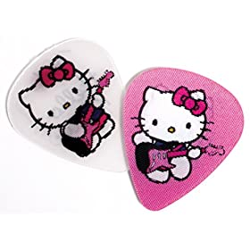 fender motion guitar picks hello kitty pink white