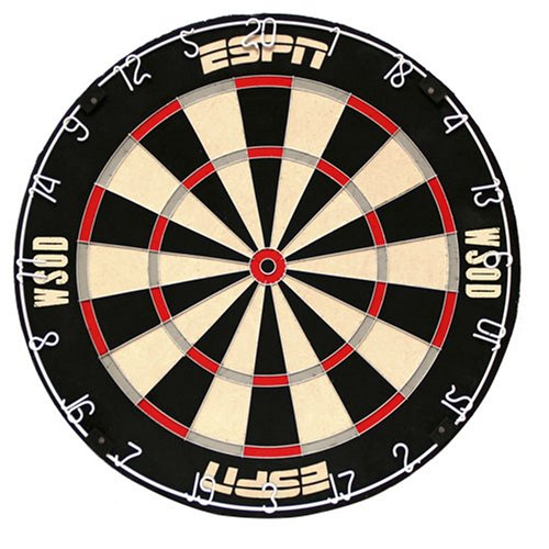 DMI ESPN World Series of Darts Licensed Staple-Free Bristle Dartboard