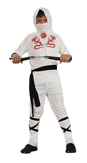 Haunted House Child's White Ninja Costume, Large