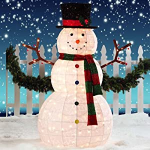 Giant Snowman LED Christmas Decoration for Indoor/Outdoor ... on Backyard Decorations Amazon id=17253