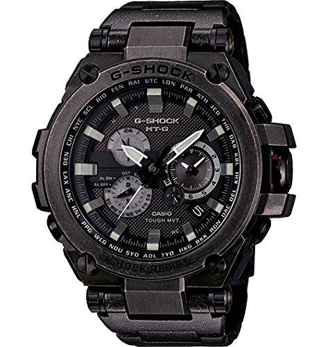 tough solar powered dual world time analog steel watch,mt-g series,video review,g-shock,casio,(VIDEO Review) Casio - G-Shock - MT-G Series - Tough Solar Powered Dual World Time Analog Steel Watch - MTGS1000V-1A,