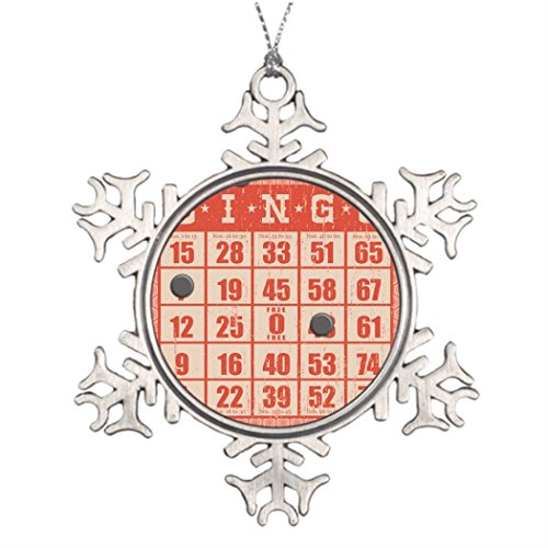 dokky J Xmas Trees Decorated hipster vintage red bingo card game board game Tree Garland