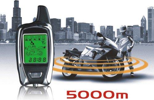 Profi Motorrad Alarmanlage bis 5km universell verwendbar für Kawasaki Honda Suzuki Triumph Harley Davidson Aprilia BMW MZ ....