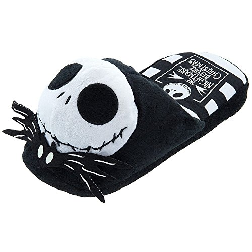 Disney Women's Jack Skellington Black Slippers M/8-9