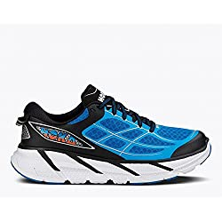 Hoka One One Men's M Clifton 2 Directoire Blue/Flame Running Shoe 11 Men US