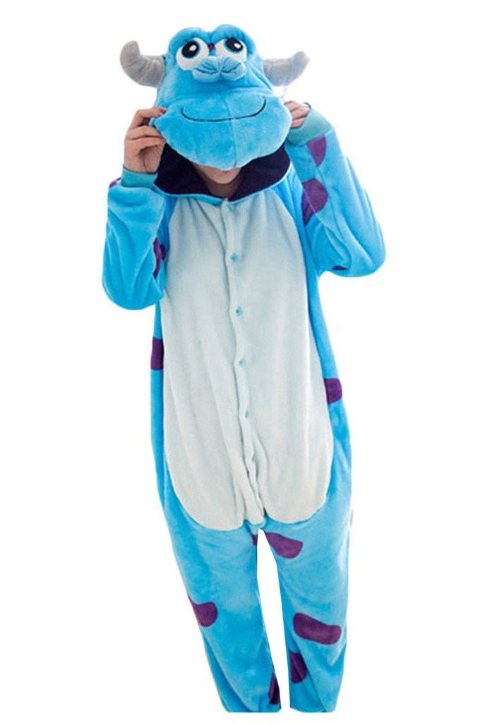 Baoji Unisex Adult Sulley Onesie Kigurumi Pajamas Cosplay Costume Animal L Blue Sulley