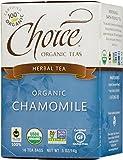 Choice Organic Caffeine Free Chamomile Herbal Tea, 16 Count Box