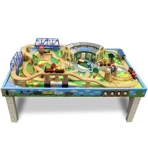 Thomas & Friends Wooden Railway – Tidmouth Sheds Deluxe Train Set ...