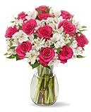 22 Long Stem Alstro-Rose Bouquet - With Vase