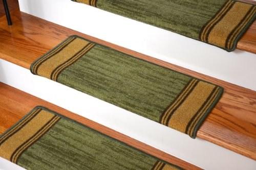 Dean Modern Diy Bullnose Wraparound Non Skid Carpet Stair Treads   Dean Non Slip Stair Treads   Friendly Diy   Landing Mat   Fiber Sisal   Rugs   Keshan Chocolate