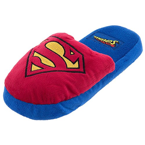 DC Comics Women's Superman Red Logo Slippers M/8-9