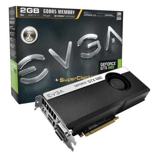 EVGA GeForce GTX680 SC SIGNATURE+ 2048 MB GDDR5 DVI DVI-D HDMI DisplayPort 4-Way SLI Ready Graphics Card, 02G-P4-2685-KR