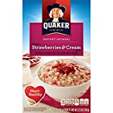 Quaker Instant Oatmeal, Strawberry and Cream, 10 Count (Pack of 4)