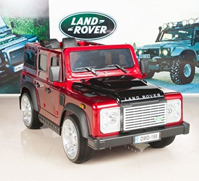 12V-Land-Rover-Defender-Kids-Electric-Ride-On-CarTruck-with-MP3-and-Remote-Control-Red
