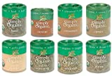 Simple Organic Basics 8 Spices Gift Set