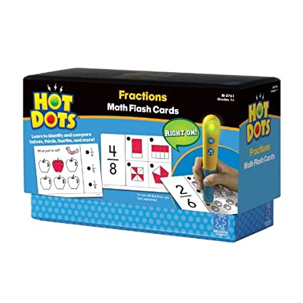 Educational Insights Hot Dots Math Flash Cards Fractions