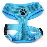 BINGPET BB5001 Soft Mesh Dog Puppy Pet Harness Adjustable - Blue