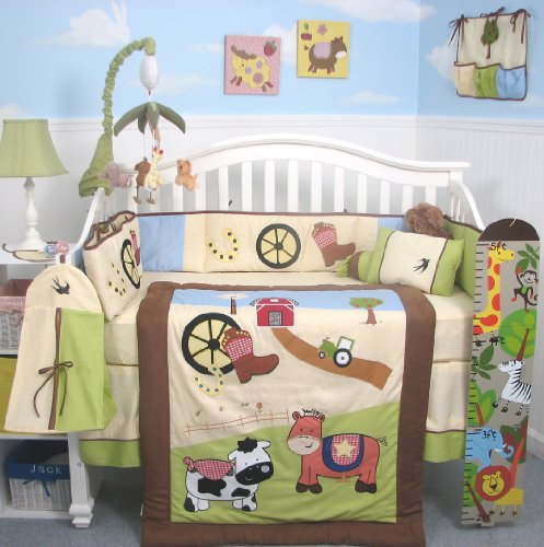 Cute Farm Animal Nursery Fun Barnyard Baby Decor And Bedding