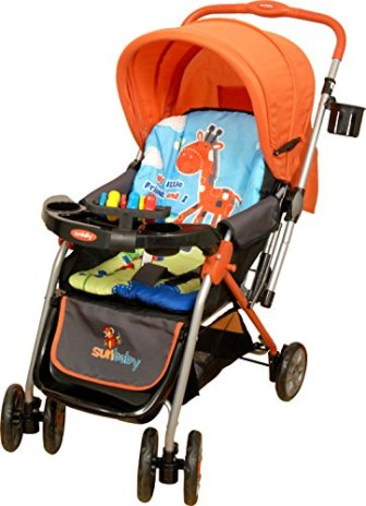 Sunbaby Royale Stripe Stroller (Orange)