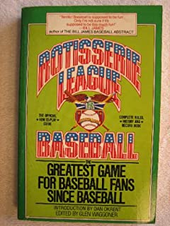 Rotisserie League Baseball Book