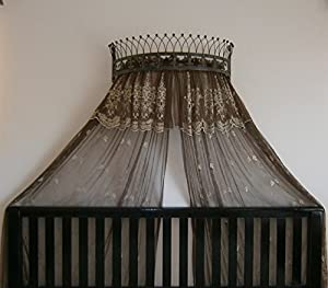 Amazon.com: Octorose ® Metal Wall Teester Bed Canopy ... on Wall Teester Bed Crown  id=46955