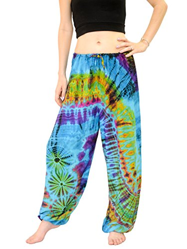 Orient Trail Women's Yoga Pajama Tie-dye Hippie Pants Size US 4-14