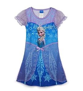 アナと雪の女王 Frozen 雪の女王 ディズニー 子供平服 ワンピース グッズ コスプレ衣装 mall-online (110-120cm)