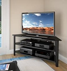 CorLiving TAL-604-T Alturas Veneer TV Stand, 60-Inch, Black Stained Wood