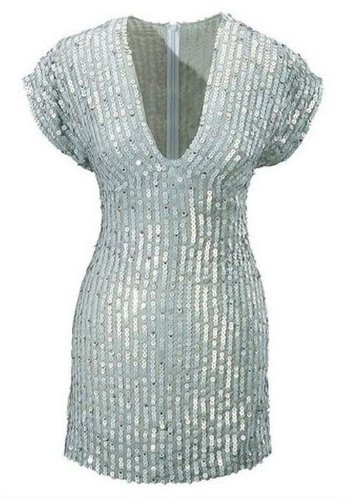 Edles Lipsy Pailletten Minikleid Silber (219)