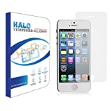 Halo Japanese Oleophobic Tempered Glass Screen Protector for iPhone 5S / 5c / 5. Hardness 9H with Rounded Edges - (0.3mm) Thick
