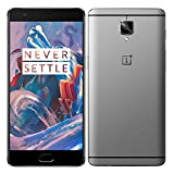 ONEPLUS tres THREE 6GB RAM 64GB ROM ©Qualcomm ©Snapdragon 820 2.2GHz Quad Core 5.5 Inch 2.5D ©AMOLED Corning Gorilla Glass cuatro FHD Screen ©Android 6.0 4G LTE Smartphone Grey