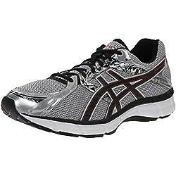 ASICS Men's Gel Excite 3 Running Shoe, Silver/Black/Red, 12.5 4E US