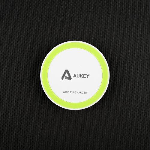Aukey Qi充電パッド 置くだけ充電 非接触充電 無線充電器(円形)