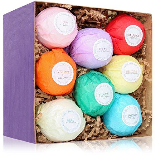 HanZa All Natural Bath Bombs Relaxation Kit (8 Bath Bombs)