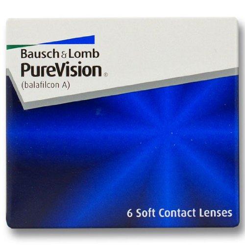 Bausch & Lomb Purevision Monatslinsen weich, 6 Stück / BC 8.6 mm / DIA 14.0 / -2,50 Dioptrien