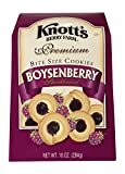 Knott's Berry Farm Premium Bite Size Cookies, Boysenberry Shortbread, 10 Oz Box (Pack of 3)