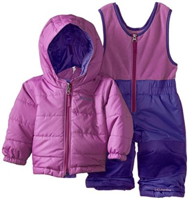Columbia-Baby-Girls-Double-Flake-Reversible-Set-PurpleBlossom-Pink-6-12-Months