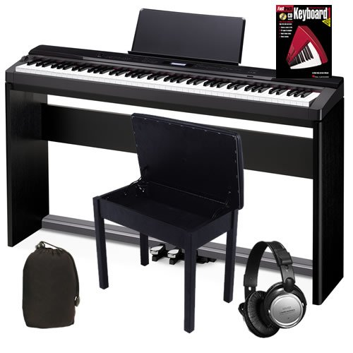 Casio PX-330 Digital Piano COMPLETE BUNDLE w/ Stand, Pedals & Bench