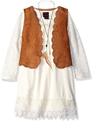Girls-Rule-Big-Girls-2-Piece-Dress-and-Suede-Vest-Set-Ivory-Small