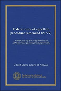 Federal rules of appellate procedure (amended 8/1/79) (Vol ...