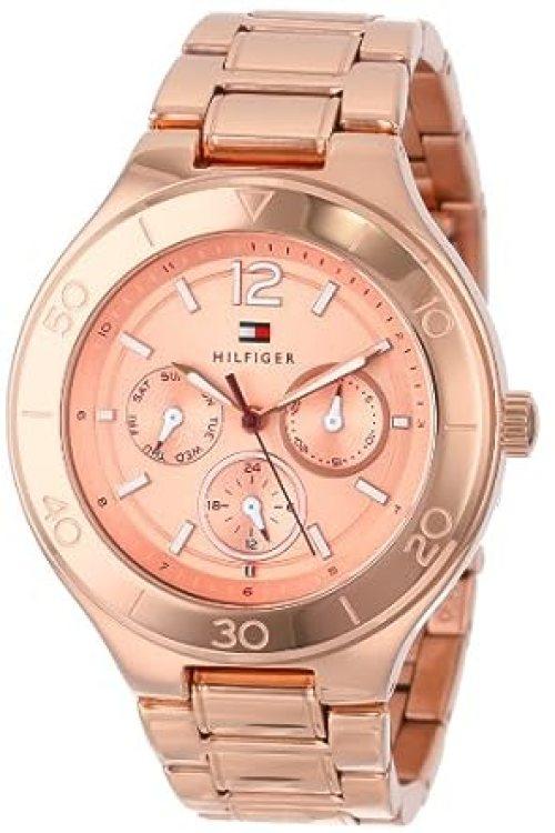Tommy Hilfiger Women's Sport Luxury Multi-Eye Rose-Gold Bracelet Watch