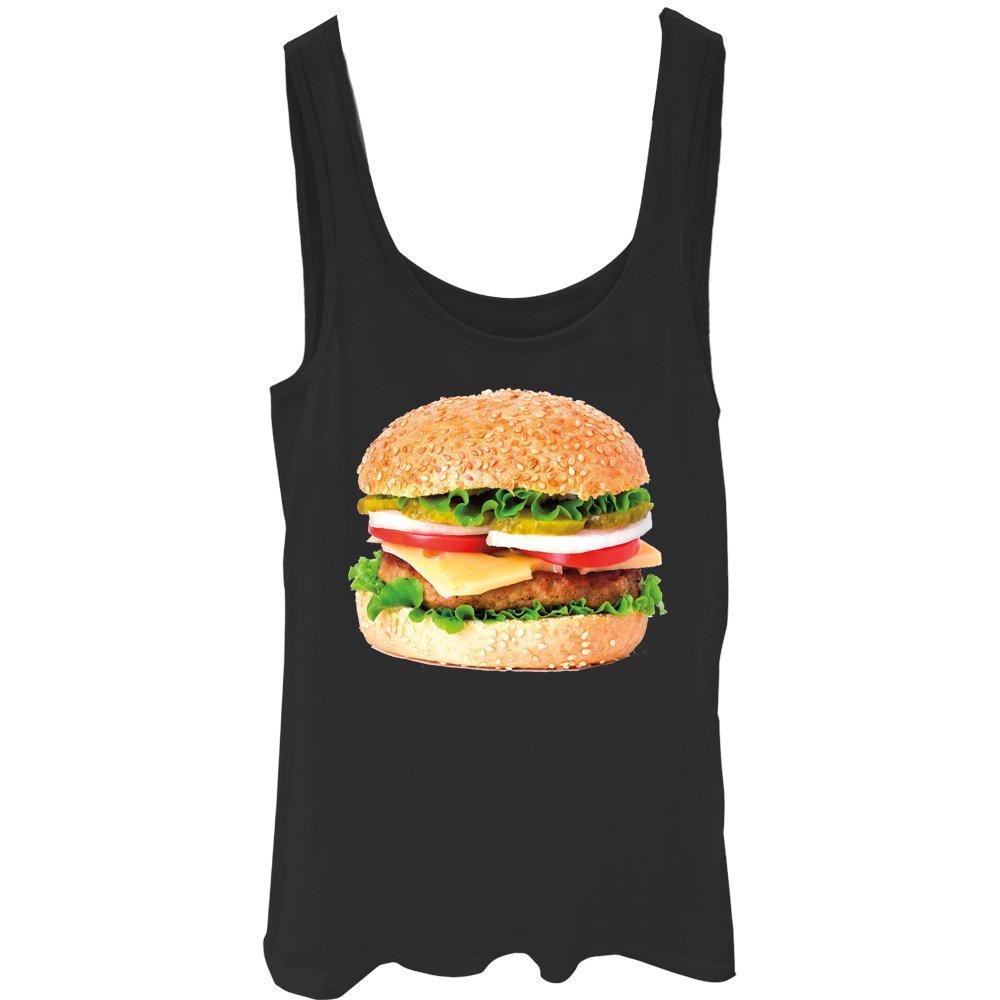 Lost Gods Cheeseburger Love Juniors Graphic Tank Top