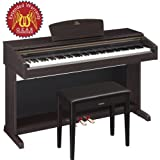 Yamaha Arius YDP-181 Digital Piano with Bench and Gear Guardian Extended Warranty - Dark Rosewood