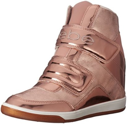 Bebe-Womens-Cobble-Walking-Shoe-Rose-GoldNude-Pink-6-M-US